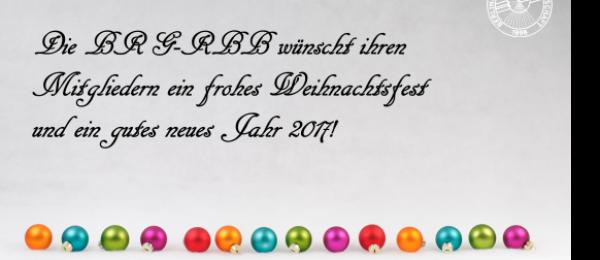 Die BRG-RBB wünscht Ihren Mitgliedern frohe Weihnachten!
