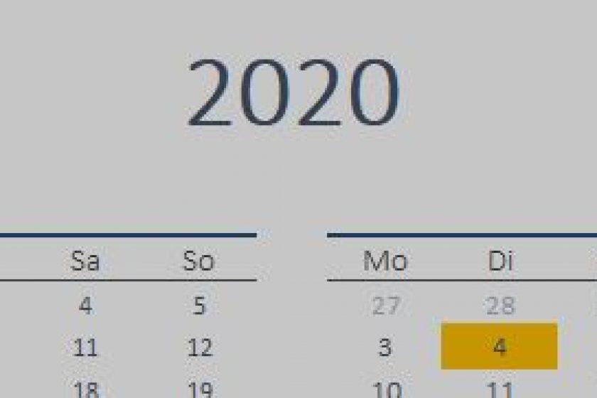 Termine Wissenschaftliche Sitzungen 2020